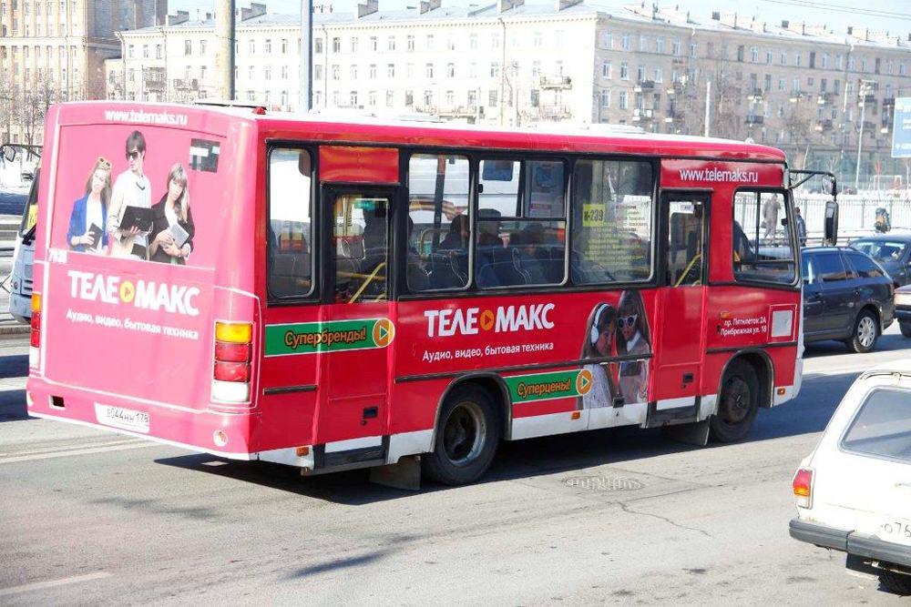 реклама в автобусах спб